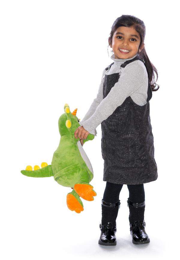 Personalised Green Dinosaur Teddy