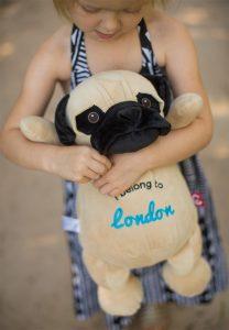 Personalised Pug Teddy Bear