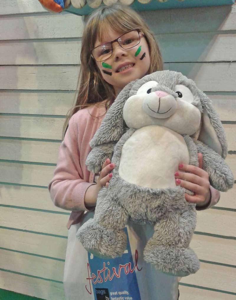 Grey Teddy Bunny