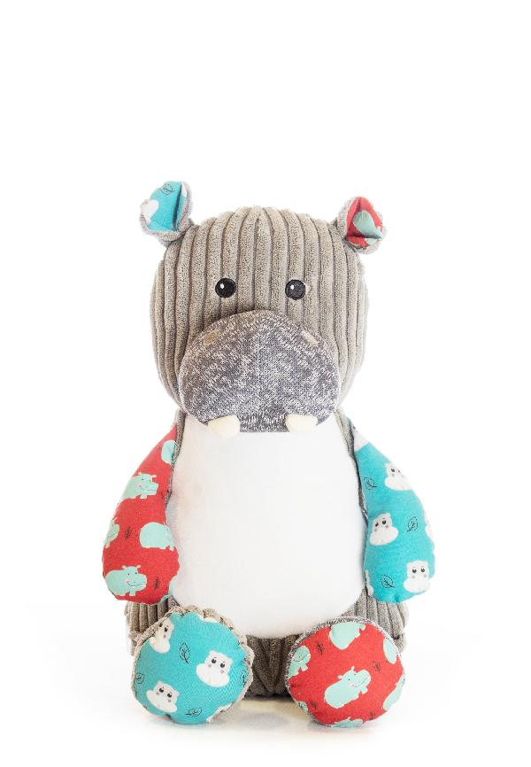 Personalised Soft Sensory Toy Hippo Teddy