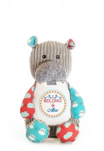 Personalised Soft Toy Hippo Teddy