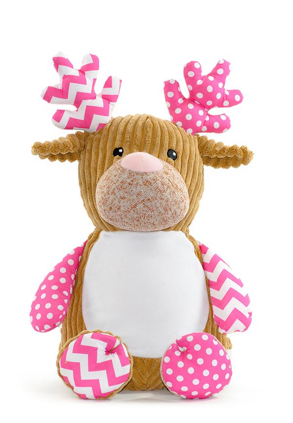 Personalised Teddy Deer Baby Sensory Toy
