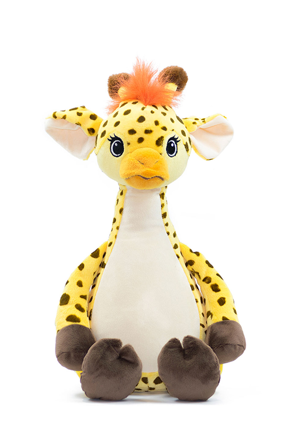 Personalised Giraffe Teddy Baby Sensory Toy