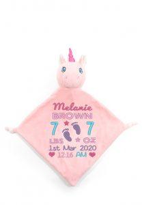Personalised Unicorn Blanket Comforter