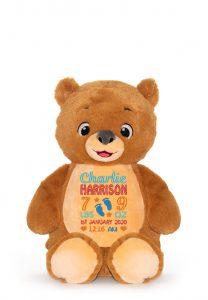 Personalised Soft Sensory Cubby Teddy Bear