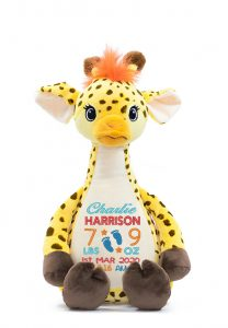 Personalised Giraffe Teddy Bear