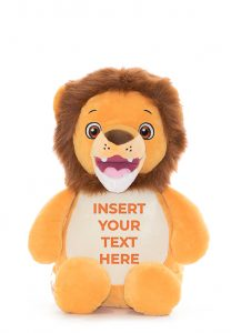 Lion Teddy Personalised Baby Sensory Toy