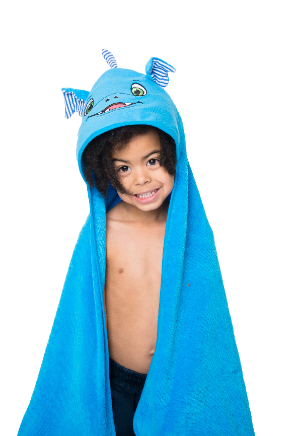 Personalised Dragon Hooded Towel