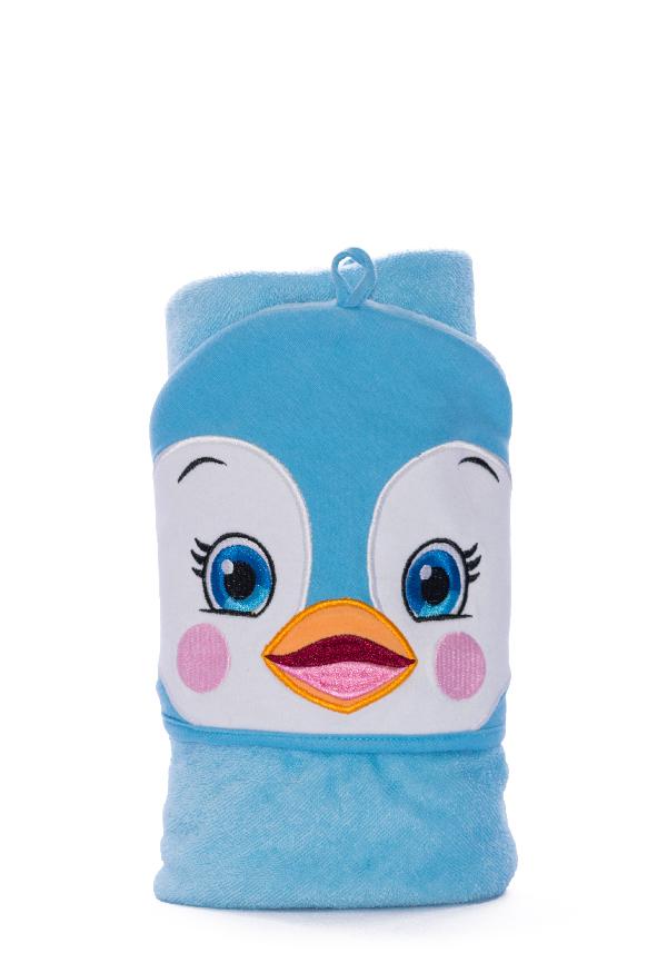 Personalised Penguin Bath Towel
